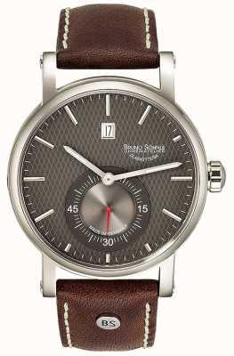 Bruno Sohnle Reloj Taranis automático de cuero marrón de 43 mm 17-12165-841