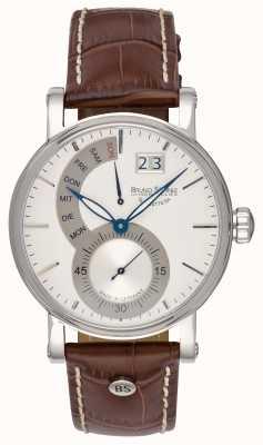 Bruno Sohnle Reloj de cuero marrón Pesaro ii 43 mm 17-13073-283