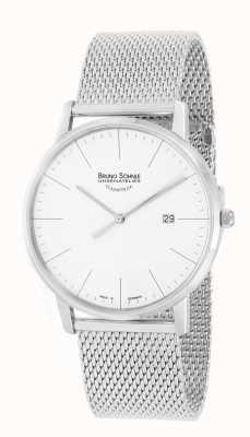 Bruno Sohnle Reloj de malla de acero inoxidable Stuttgart i 42mm 17-13175-240