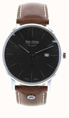 Bruno Sohnle Reloj de cuero marrón Stuttgart i 42mm 17-13175-841