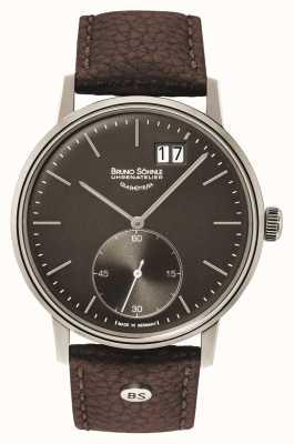 Bruno Sohnle Reloj de cuero marrón Stuttgart 42 mm II 17-13179-841