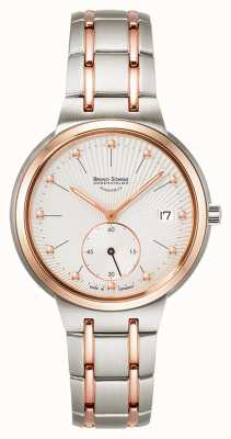 Bruno Sohnle Epona 34mm dos tonos reloj de acero inoxidable 17-63162-252