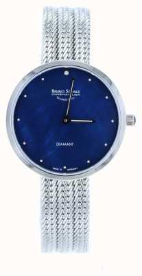 Bruno Sohnle Reloj de malla de acero inoxidable Nofrit 34mm 17-13171-350