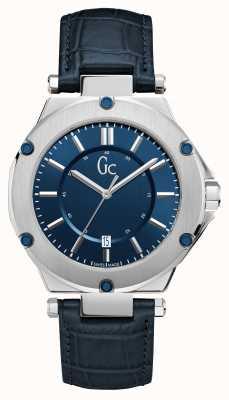 Gc 3 mens sport date sunray dial blue watch X12004G7S
