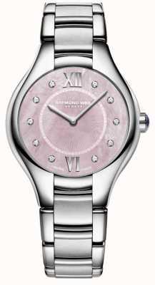 Raymond Weil Reloj de madreperla de cuarzo con diamantes noemia de Womans 5132-ST-00986
