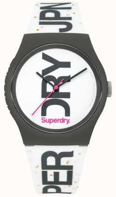 Superdry Reloj unisex de silicona blanca SYL189WB