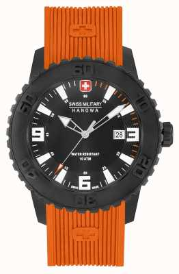 Swiss Military Hanowa Mens twilight ii naranja reloj de silicona 06-4302.27.007.79