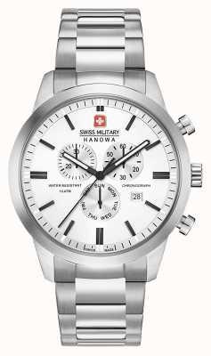 Swiss Military Hanowa Cronógrafo clásico de acero inoxidable para hombre 06-5308.04.001