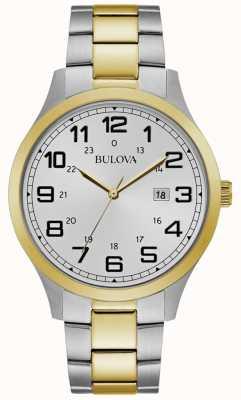 Bulova Reloj para hombre reloj dos tonos brazalete de acero inoxidable 98B304