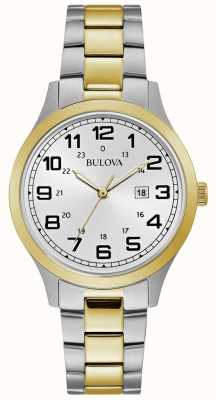 Bulova Reloj para mujer reloj dos tonos brazalete de acero inoxidable 98M128