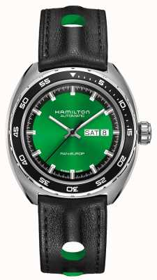 Hamilton Esfera verde automática americana clásica pan europ H35415761