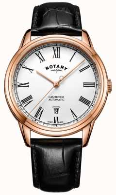 Rotary Mens Cambridge Rose Gold automático GS05252/01