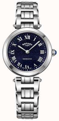 Rotary Reloj de cuarzo de acero para mujer kensington medianoche cielo LB05190/67