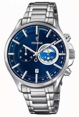 Festina Reloj deportivo para hombre con reloj de pulsera de acero inoxidable F6852/2