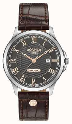 Roamer Correa de cuero marrón para hombre windsor 706856410207
