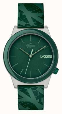 Lacoste Reloj de movimiento para hombre de silicona verde 2010932