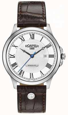 Roamer Correa de cuero marrón para hombre windsor 706856411207