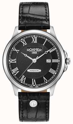 Roamer Correa de cuero negra Windsor dial negra 706856415207