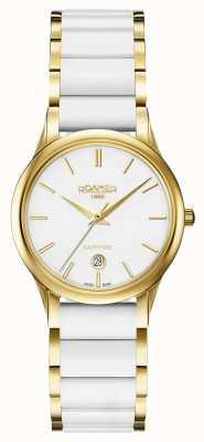 Roamer Estuche de oro para reloj de cerámica blanco c-line para mujer 657844482560