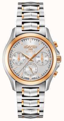 Roamer Reloj de mujer cronógrafo plata y oro rosa 203901491520