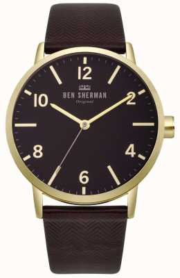 Ben Sherman Mens biig portobello reloj de espina de pescado WB070RB