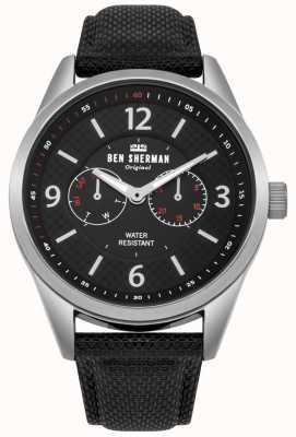 Ben Sherman Reloj utilitario grande para hombre de carnaby WB069BB