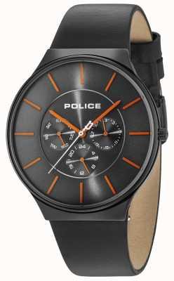 Police Correa de cuero negra de Seattle caja negra para mujer 15044JSB/13A