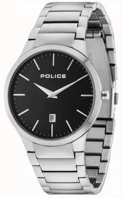 Police Pulsera Horizon plata esfera negra 15246JS/02M