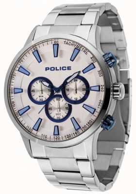 Police Pulsera de acero Momentum con esfera plateada 15000JS/04M