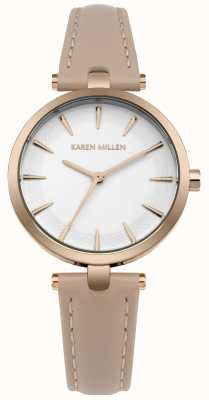Karen Millen Caja de oro rosa con esfera blanca mate KM153CRG