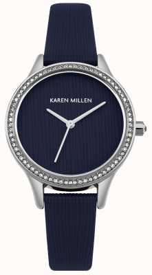 Karen Millen Esfera texturizada de cuero azul marino KM165U