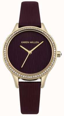 Karen Millen Esfera con textura de cuero de morera KM165VG