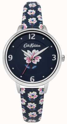 Cath Kidston Reloj con correa azul marino y esfera azul marino CKL042US