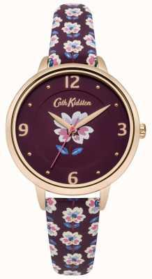 Cath Kidston Ciruela correa floral reloj esfera ciruela CKL042RRG