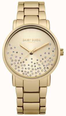 Daisy Dixon Pulsera dorada dorada con esfera de rayos dorados DD053GM