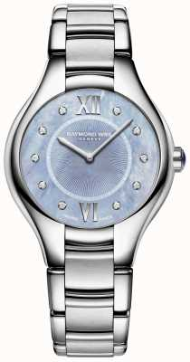 Raymond Weil Para mujer noemia diamante brazalete de acero inoxidable esfera azul 5132-ST-00955