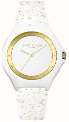 Daisy Dixon Correa de silicona purpurina blanca / dorada DD031WG