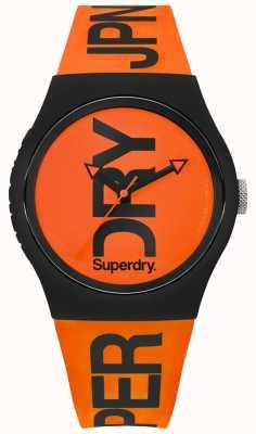 Superdry Naranja marcar correa de silicona naranja SYG189OB