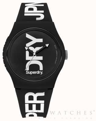 Superdry Correa negra de silicona negra SYG189BW