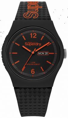 Superdry Correa negra de silicona negra SYG179OB