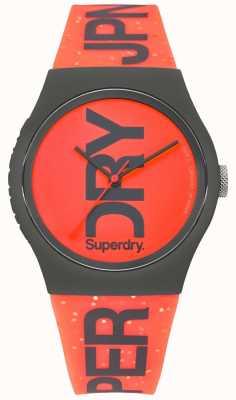 Superdry Correa de caucho cuadrada roja esfera urbana de caucho SYL189CE