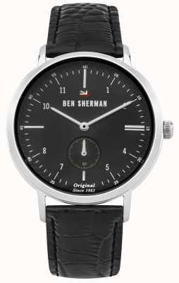 Ben Sherman La correa de cuero negra dylan professional dial negra WBS102BB