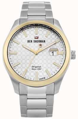 Ben Sherman La caja de oro ronnie professional silver gold inoxidable WBS109GSM