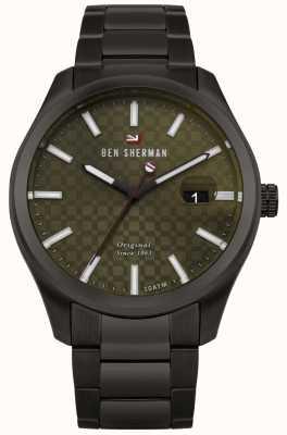 Ben Sherman La pulsera de caja negra ronnie professional green dial WBS109BBM