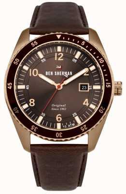 Ben Sherman El ronnie sports bronze dial bronce case marrón cuero WBS107TRG