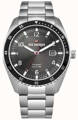 Ben Sherman El ronnie sports black dial plate plate acero inoxidable WBS107BSM