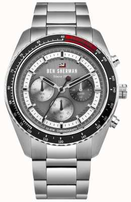 Ben Sherman El ronnie cronógrafo gris sunray dial acero inoxidable WBS108BSM