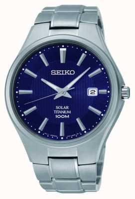 Seiko Esfera de titanio pantalla azul SNE381P9