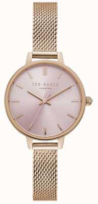 Pulsera de malla de oro rosa rosa para mujer Ted Baker TE50070004