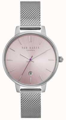 Ted Baker Pulsera de malla de acero inoxidable plateado rosa kate para mujer TE15162010
